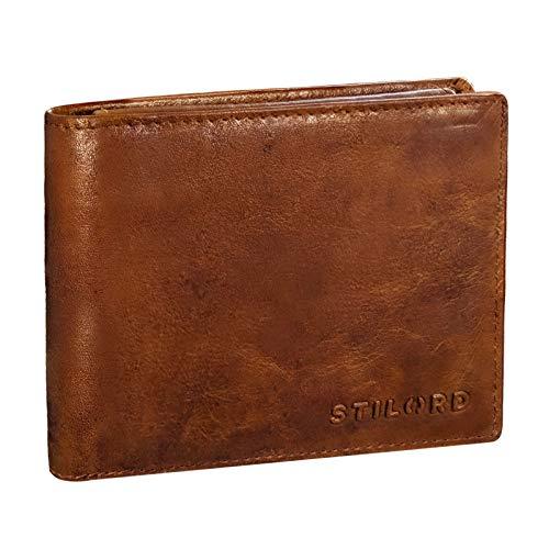 STILORD 'Ethan' Vintage Leder Geldbörse Herren Portemonnaie Ledergeldbeutel mit Karten-Fächer...