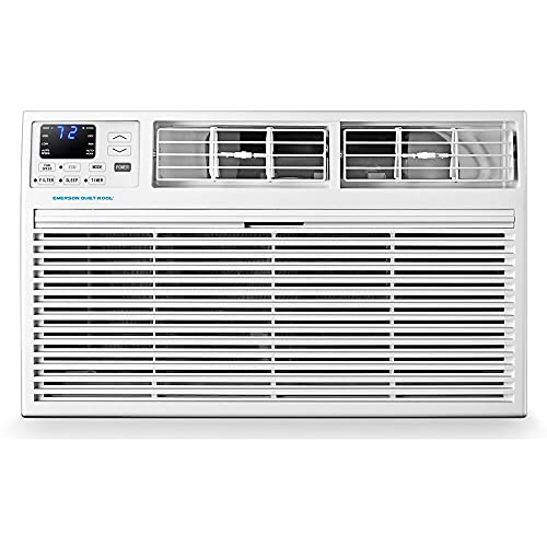 Emerson Quiet Kool Energy Star 12,000 BTU 115V Through-The-Wall Air Conditioner with Remote Control in White for up to 550 sq. ft. EATC12RE1T, 12000