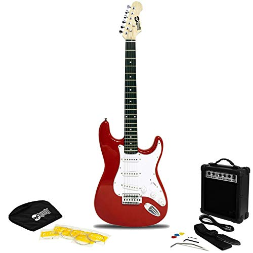 RockJam Superkit de guitarra eléctrica de tamaño completo con amplificador de guitarra