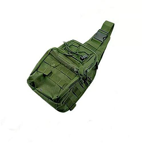 Mochila Militar de Hombro Táctica Mariconera Color Verde Militar