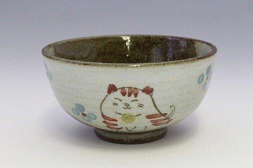 Matsumoto 47645 - Cuenco de cerámica japonesa para arroz, diseño de flores rojas