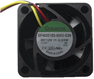 Sunon 40x40x20mm Medium Speed Fan EF40201 B2-000U-G99, 3 Pin