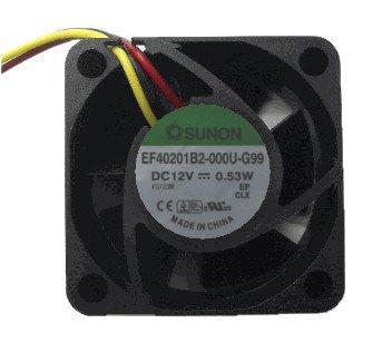 Sunon 40x 40x 20mm ventilador de velocidad media ef40201B2–000u-g99, 3pines