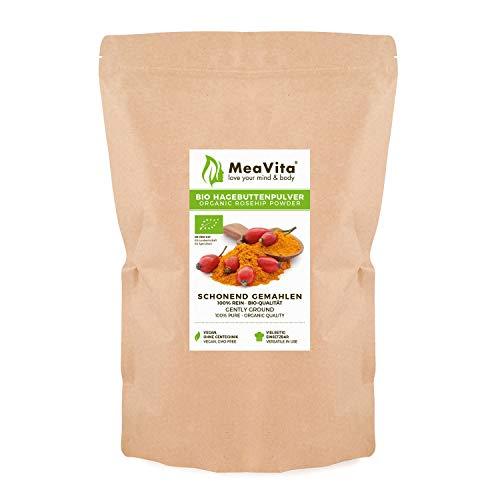 MeaVita Bio Hagebuttenpulver, in Rohkostqualität, glutenfrei, 1er Pack (1 x 1000g)