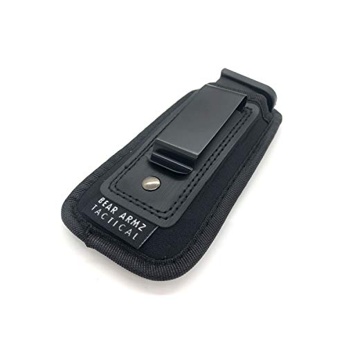 Universal IWB Magazine Holster | American Company | Mag Pouch Compatible with Glock 17 19 43 Sig P320 S&W M&P Shield | 6-21 Round Pistol Mags 9mm .40 .45 | Gun Ammunition Holsters | Handgun Ammo (1)