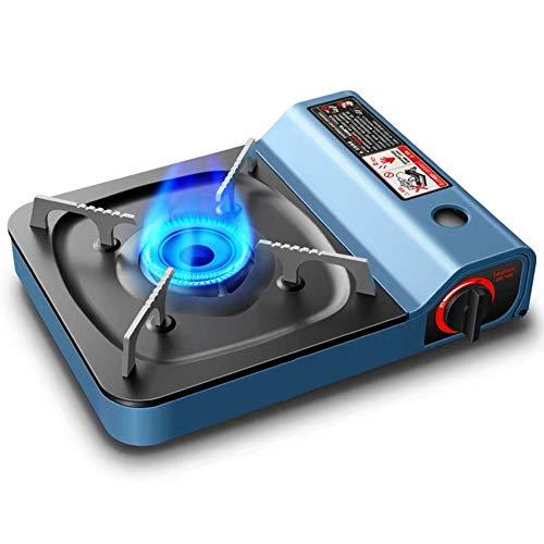 BIN Cocina Cartucho Gas Antióxido Estufa de butano Ignición eléctrica piezo Control de Calor Variable para cocinar al Aire Libre para Acampar.