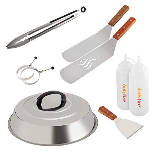 Onlyfire FPA-5117 Juego de espátula de Acero Inoxidable para Parrilla cocinar con...