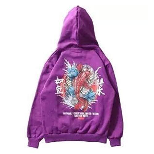 CHAOX - Sudadera con capucha para hombre y hombre, estilo hip hop, informal, para hombre y mujer, suelta, con capucha Harajuku (color: 10, tamaño: M)