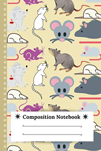 Rats Composition Notebook: Cute Notebook with Rats, Lined Note Book - Journal with Lines for Kids Teens, Students