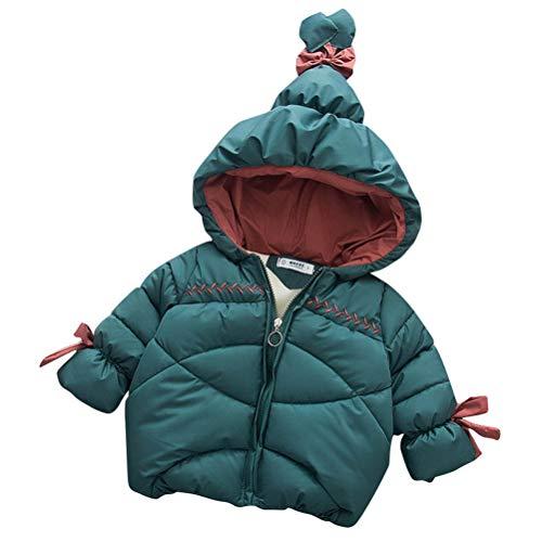 Abrigo de Invierno para Niños Chaqueta de Invierno con Capucha Cálido Algodón Trajes Niñas Impermeable