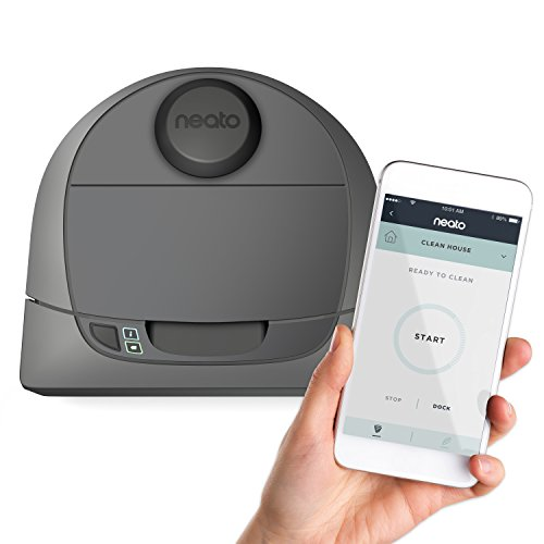 Neato Botvac D3 Connected Laser Guided Robot Vacuum, Works with Smartphones, Alexa, Smartwatches