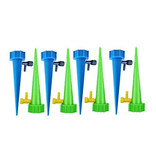 GladiolusA Automatisch Bewässerung Set,Einstellbar Bewässerungssystem Garten Zur Pflanzen Bewässerung Blumen Bewässerung Zimmerpflanze Bewässerung Reguläre Version 8Stück(4Blau 4Grün)