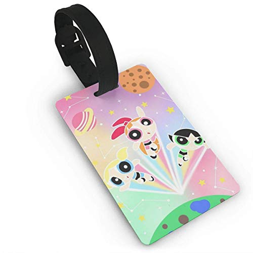 Lage Tags Cartoon Powerpuff Girls Suitcase Labels Bag Tag Travel Accories