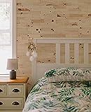 wodewa Wandverkleidung Holz 3D Echtholz Zirbe 1m² Wandpaneele Moderne Wanddekoration Holzverkleidung Holzwand Wohnzimmer Küche Schlafzimmer I gebürstet unbehandelt