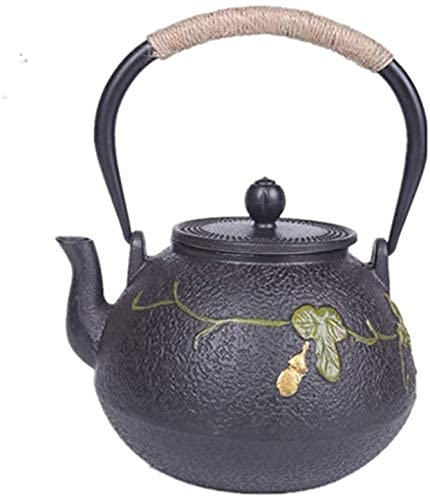 FGDSA Iron Teapot Large Green Vines 1200 Ml Teapot Japanese Iron Teapot For Green Tea