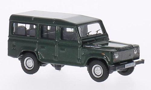 Preisvergleich Produktbild Land Rover Defender,  dkl.-grün,  Modellauto,  Fertigmodell,  Oxford 1:76