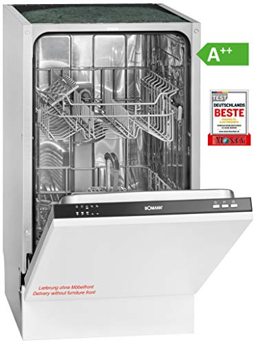 Bomann GSPE 891 Einbau-Geschirrspüler / EEK A++ / vollintegrierte Ausführung / 45 cm / 197 kWh / 9 MGD / 5 Programme / Bedienblende...