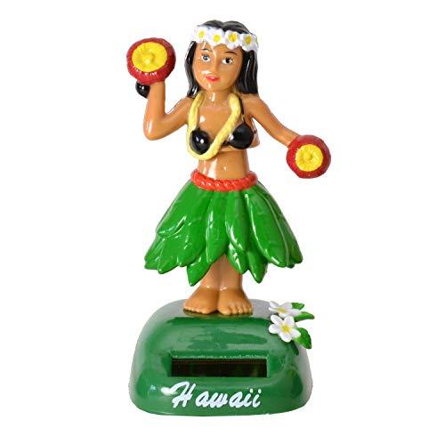 Unbekannt Hula Girl Solarfigur in grün - Hula Mädchen Solar Figur