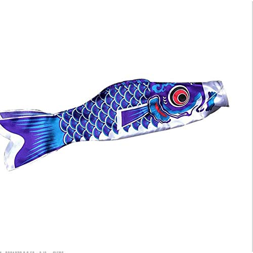 Heaviesk Nuevo 5 colores 55 cm impermeable carpa japonesa manga de viento Streamer colgando Fish Flag Decor Kite Koinobori para niños