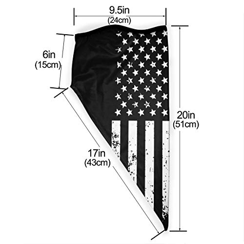 Neck Gaiter Warmer Windproof Face Mask Ironworker American Flag