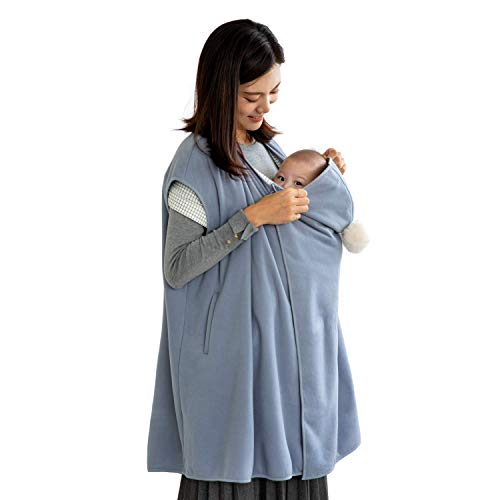 konny-baby-carrier-winter-cover-compatible-with-any-baby-carriers-and-strollers-protect-baby-from-cold-weather-polar-fleece-newborns-infants-to-toddlerssky-blue-free