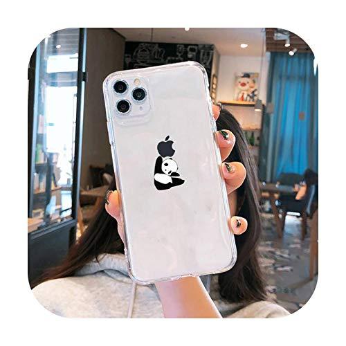 Funda protectora para iPhone 5, 5S, 5C, SE 6, 6S, 7, 8, 11, 12 Plus, mini, XS, XR, Pro max-a11, para iPhone 7 u 8, diseño de dinosaurio panda