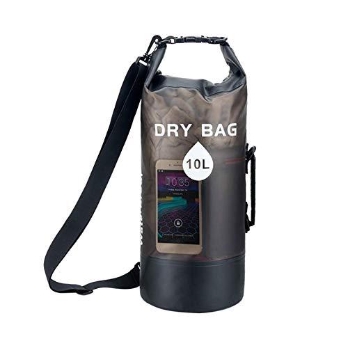 Pohove, borsa impermeabile da 10 l/20 l, zaino leggero e asciutto con custodia per telefono e marsupio trasparente, a compressione a secco, per viaggi, nuoto, canottaggio, kayak, spiaggia