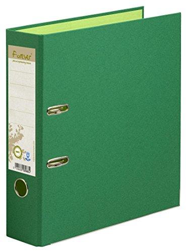 Exacompta 53983E Premium Recycling-Ordner Prem´Touch Forever. 8 cm breit DIN A4 Ringordner Aktenordner Briefordner Büroordner Plastikordner Schlitzordner dunkelgrün