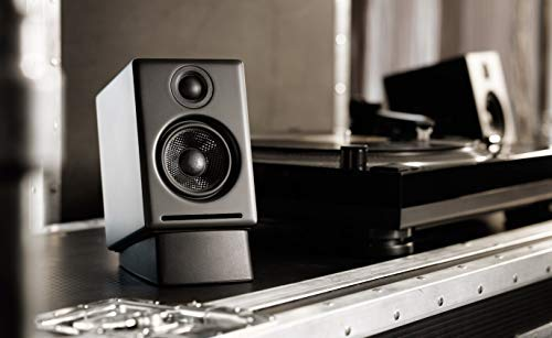 Audioengine A2+ Plus Wireless Speaker Bluetooth | Desktop Monitor Speakers | Home Music System aptX Bluetooth, 60W Powered Bookshelf Stereo Speakers | AUX Audio, USB, RCA Inputs,16-bit DAC (Black)