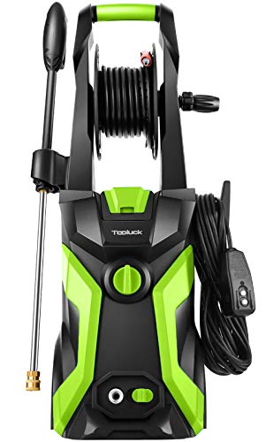 TOOLUCK 3800PSI Pressure Washer, Electric 2.8GPM Power Washer 1800W, High Pressure Cleaner Machine with 4 Nozzles, for Cleaning Patio, Garden, Fences, Vehicle, Cars (Green)
