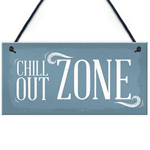 Home Decorative 'Chill Out Zone Man Cave Shed Summer House Wall Door Plaque