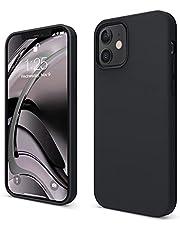 """elago Liquid Silicone Case Compatibel met iPhone 12 Hoesje & Compatibel met iPhone 12 Pro Hoesje (6,1"""") - Vloeibaar Siliconen Beschermhoes, Complete Bescherming: 3-laags Schokbestendig (Zwart)"""
