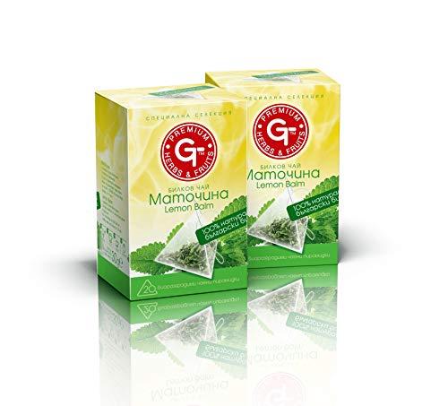 BteaCo - Bolsas de té biodegradables Melissa Officinalis de alta calidad, antioxidante, saludable y relajante, 30 g