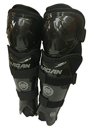 H-7 Adjustable Hockey Shin Guards by Hagan