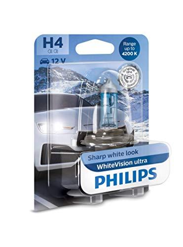 Philips 12342WVUB1 WhiteVision Ultra Efecto Xenon H4 Bombilla para Faros Delanteros, 4.200K