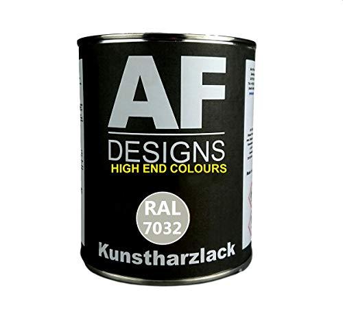 Alex Flittner Designs 1 Liter Kunstharz Lack Buntlack Kunstharzlack RAL7032 KIESELGRAU matt