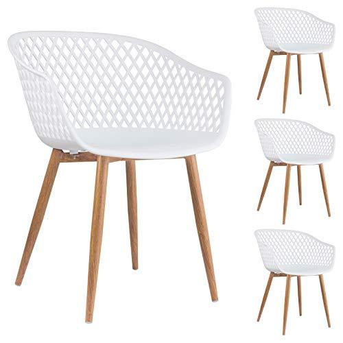 IDIMEX Esszimmerstuhl Madeira im Retro Design, Stühle Küchenstuhl Essstühle Stuhl mit Armlehne,...