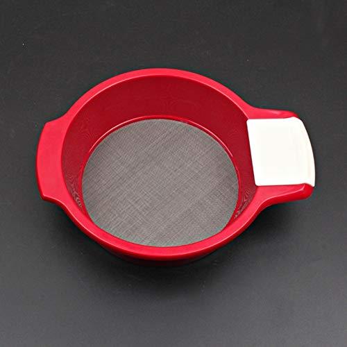 ABS-Sieve Poeder, roestvrij staal, handfilter, meelzeefmeel, poedersuiker startpagina keukengerei, bakgereedschap rood small
