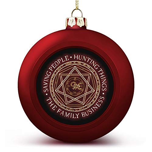 VNFDAS Supernatural The Family Business Devils Trap Custom Christmas ball ornaments Beautifully decorated Christmas ball gadgets Perfect hanging ball for holiday wedding party decoration