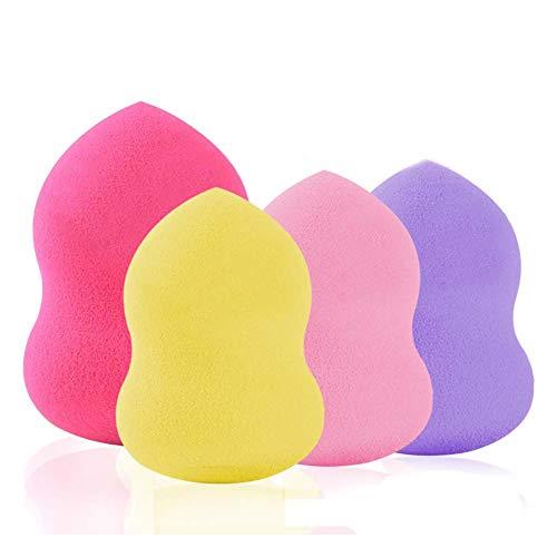 Shager Pro Éponge Beauté Flawless Maquillage Blender Foundation Puff multi-éponges de forme Visage Poudre Applicateur 4 * 6cm (4Pcs)