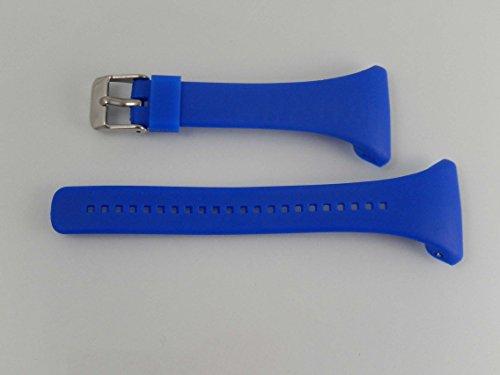 vhbw TPE Ersatz Armband L 11.5cm + 8.5cm passend für Polar FT4, FT4f, FT4m, FT7, FT7m Fitness Uhr, Smart Watch - blau