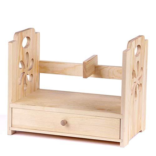Bookcases Bookshelf Caja de estantería creativa dispositivo de almacenamiento, combinación de oficina estante, escritorio de madera de cajón de almacenamiento caja Misceláneas del estante Librerías Es