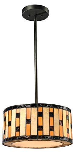 Z-Lite Z14-51P-C - Lámpara de techo (3 luces, visualización Tiffany), multicolor