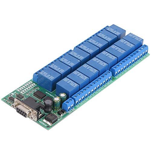 16-Kanal-Relaismodul, R223C16 RS232-Relaismodul Relaismodul, serielle Schnittstelle 16-Kanal-Relaisplatine, weibliche Schnittstelle für Raspberry Pi