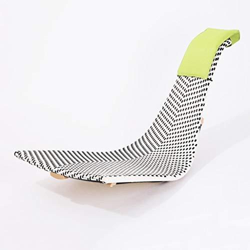 Shi xiang shop Silla de Tumbona Orbital portátil, mecedoras de Patio Silla reclinable de ratán de plástico, Silla cómoda ergonómica for el hogar o al Aire Libre (Color : A)