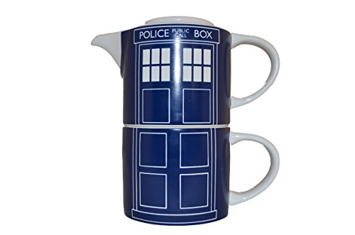 Doctor Who Tardis Türverkleidung Tea for One, blau