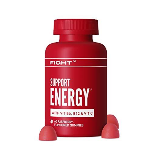 Vegan Multivitamins by FIGHT | Zinc and Vitamin C | Support Energy | 60x Raspberry-Flavoured Gummies | Zinc, Vitamin C, Biotin + More | Gluten-Free Supplements to Help Reduce Fatigue | 1 Month Supply