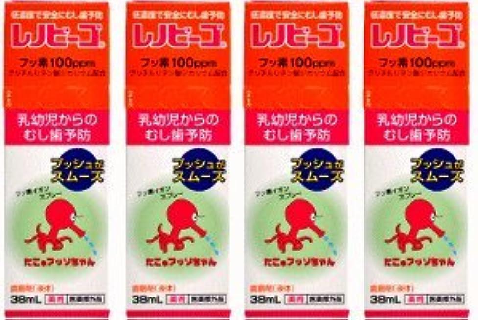 祝福するモニカチート【ゾンネボード】 レノビーゴ フッ素配合スプレー 38ml×4個セット まとめ割!