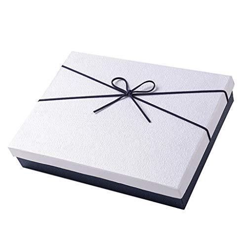 Scatola da regalo rettangolare bianca scatola sciarpa da regalo per anniversario di compleanno per dare ad un amico regalo grande scatola di imballaggio vestiti scatola regalo sciarpa regalo di Natale