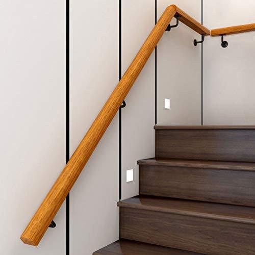 Handrail Stair Corrimano, 50-600cm Epoca Corrimano in Legno Massello, a Parete di Installazione, Antiscivolo Sicurezza Senza Barriere Ringhiera, Palestra, Pista da Ballo Bambino Corrimano Scale
